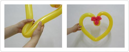 Как сделать сердце из шаров пошагово
