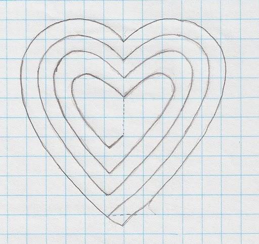 Объемная открытка сердце схема 23