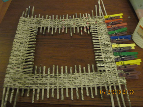 Рамка из трубочек